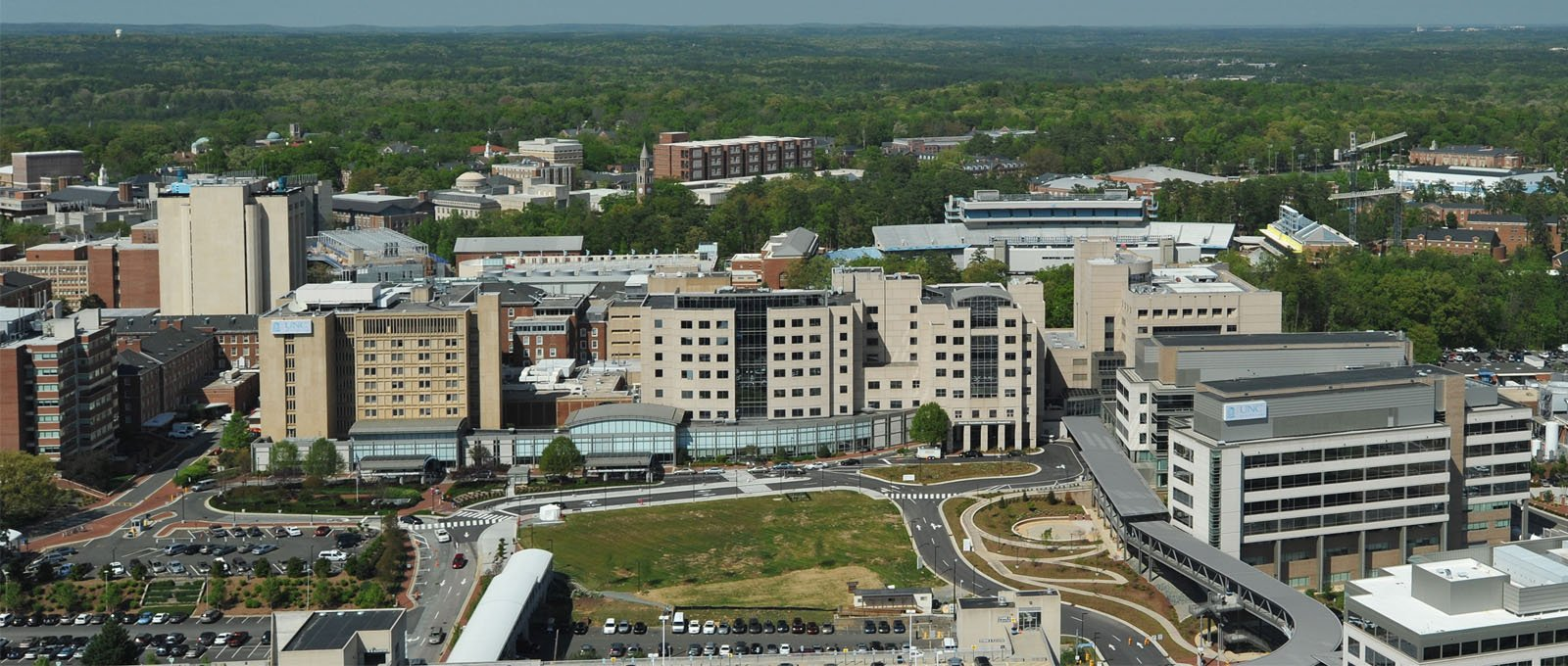 Aerial view of UNC Hospitals