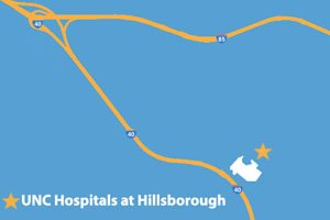 UNC Hospitals at Hillsborough Map