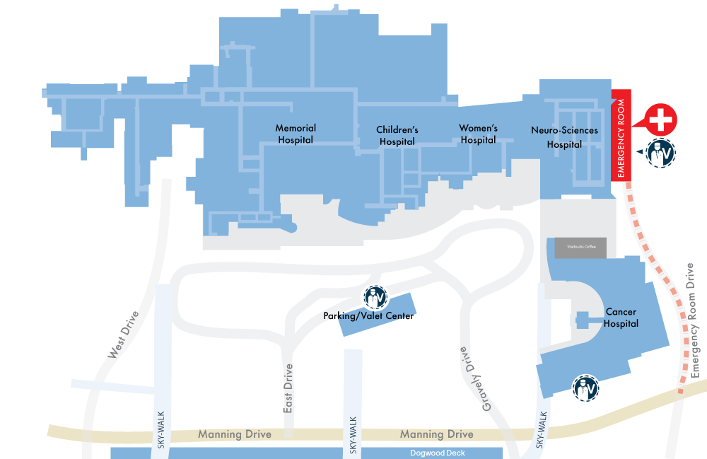 Valet Parking map