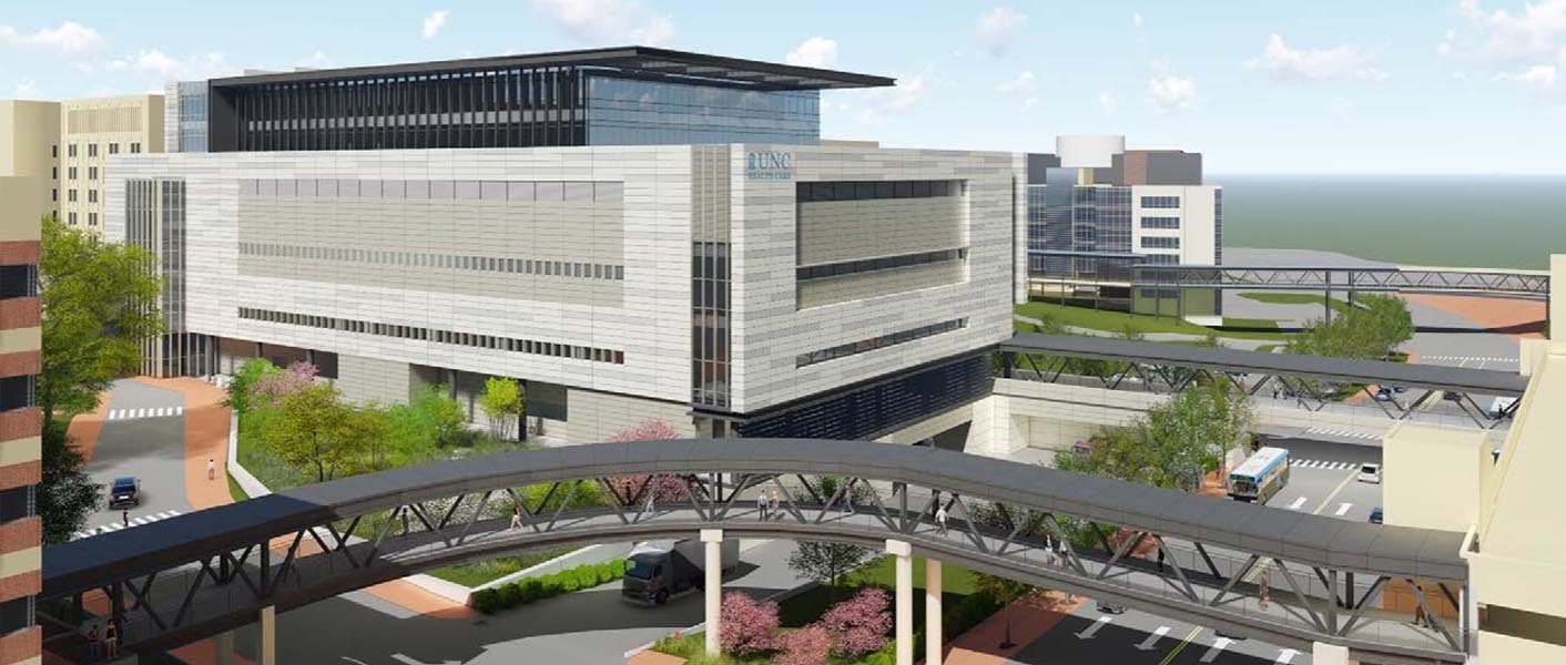 Computer rendering of new unc surgical tower building