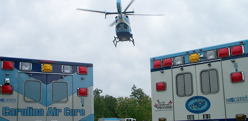 Carolina Air Care Trucks and Helicopter