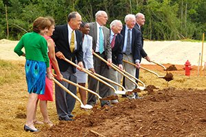 groundbreaking at Hospice building
