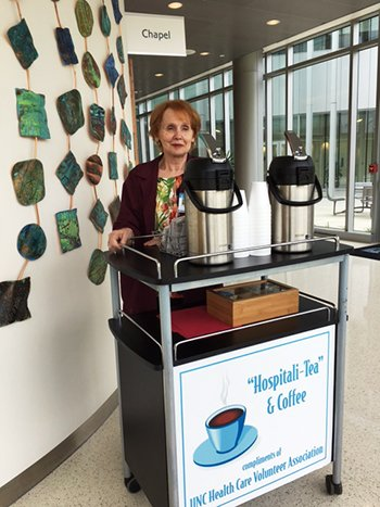 Hillsborough Hospital Volunteer Serving Coffee