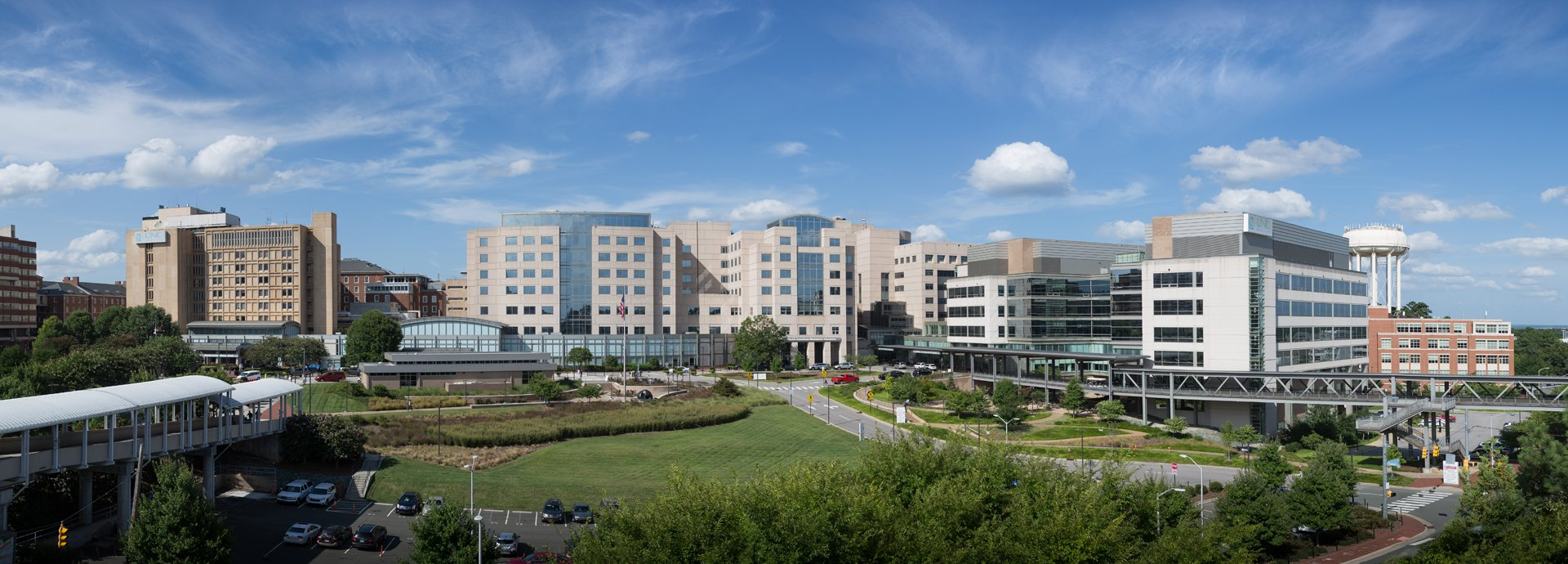 NC Memorial, UNC Children's, NC Neurosciences, NC Women's and NC Cancer hospitals - panoramic view